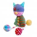 Rozkošná patchworková látková hračka - Mačička