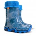 Detské zateplené gumáčiky / Modré 28-35