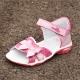 Kožené elegantné sandálky s mašličkou