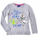 Tričko s dlhým rukávom Frozen / Olaf - sivé