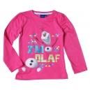 Tričko s dlhým rukávom Frozen / Olaf - ružové