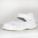 Dievčenské biele lakovky s koženým vnútrom / RenBut