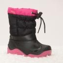 Krásne dievčenské snehule Muflón 21-28 / čierno-ružové