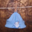 Detská čiapka / Sloník - modrá