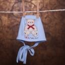 Detská čiapka / Macko - modrá