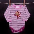 detské body - SCAMP opička fialová