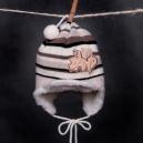 Čiapka - BAND pletená hnedá so šiltom