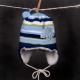 Čiapka - BAND pletená modrá so šiltom