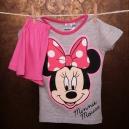 Detské letné pyžamo Disney / Minnie s veľkou mašľou - sivé