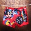 Detské plavky - boxerky / Disney Mickey - červené