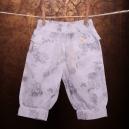 Detské nohavice - BONDI biele s motýlikmi