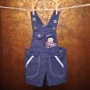 Detské kockované nohavice na traky s vreckami