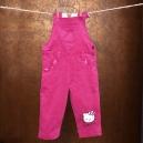 Detské podšité menčestrové nohavice Hello Kitty
