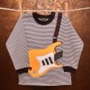 Detské tričko s dlhým rukávom - Gitara