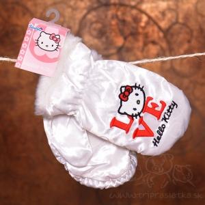 9c2a3187e57 Detské zimné rukavice - Hello kitty   biele