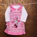 Detská súprava - šaty, body s dlhým rukávom / Minnie