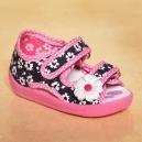 Vzorované otvorené topánočky / papučky kvetinka - RenBut