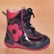 Detské kožené topánočky s kožušinkou RenBut / 13-1356